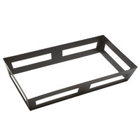American Metalcraft GSC26 26 1/4 inch x 14 inch x 4 1/2 inch Full Size Black Twilight Iron Tapered Griddle Stand