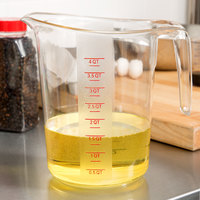 Choice 4 Qt. Clear Plastic Measuring Cup with Gradations