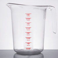 4 Qt. Clear Plastic Measuring Cup