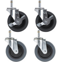 Carlisle Equivalent 4 inch Swivel Stem Casters for Fold 'N Go Carts   - 4/Set