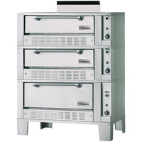 Garland G2121-72 Liquid Propane 55 1/4 inch Triple Deck Roast / Bake Oven - 120,000 BTU
