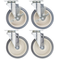 Cambro Equivalent 6 inch Swivel Plate Casters for Cambro Products    - 4/Set