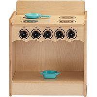 Jonti-Craft Baltic Birch 2079JC Toddler Contempo 18 inch x 13 1/2 inch x 21 1/2 inch Kitchen Stove