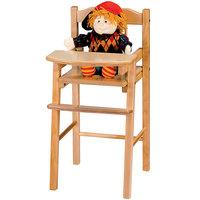 Jonti-Craft Baltic Birch 0503JC 12 1/2 inch x 14 inch x 26 inch Traditional Hardwood Doll High Chair