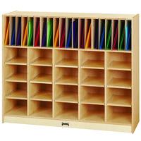 Jonti-Craft Baltic Birch 0417JC 48 inch x 15 inch x 40 inch Wood Classroom Organizer