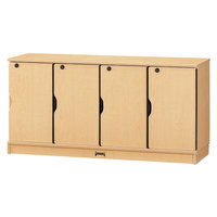 MapleWave 4688JC011 48 1/2 inch x 15 inch x 24 inch Single Stack Stackable Locking Lockers