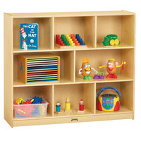 Jonti-Craft Baltic Birch 0469JC 48 inch x 15 inch x 42 inch Mega Mobile 8-Compartment Single Children's Wood Storage Cabinet