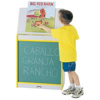 Rainbow Accents 0542JCWW007 24 1/2 inch x 15 inch x 30 inch Yellow TRUEdge Freckled-Gray Big Book Easel with Chalkboard