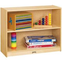 Jonti-Craft Baltic Birch 0401JC 36 inch x 15 inch x 29 inch 2-Section Wood Straight-Shelf Storage Unit