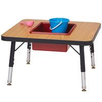 Jonti-Craft Baltic Birch 0686JC 24 inch x 24 inch x 15 inch Toddler-Height Adjustable Laminate Sensory Table
