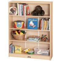 MapleWave 0962JC011 36 1/2 inch x 11 1/2 inch x 59 1/2 inch Natural Tall Bookcase - Ready to Assemble