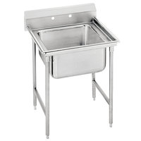 Advance Tabco T9-1-24 Regaline One Compartment Stainless Steel Commercial Sink - 25 inch Long, 16 inch x 20 inch x 12 inch Compartment