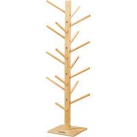 Jonti-Craft Baltic Birch 0499JC 18 inch x 18 inch x 49 inch 16-Hook Hardwood Puppet Tree