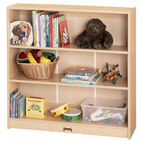 MapleWave 0960JC011 36 1/2 inch x 11 1/2 inch x 35 1/2 inch Natural Short Bookcase - Ready to Assemble
