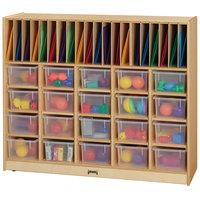 Jonti-Craft Baltic Birch 04180JC 48 inch x 15 inch x 40 inch Wood Classroom Organizer with Clear Cubbie Trays