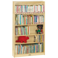 Jonti-Craft Baltic Birch 0972JC 36 1/2 inch x 11 1/2 inch x 59 1/2 inch Natural Tall Bookcase