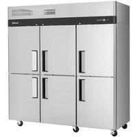 Turbo Air M3R72-6 M3 Series 78 inch Solid Half Door Reach In Refrigerator