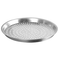 American Metalcraft ADEP18P 18 inch x 1 inch Perforated Standard Weight Aluminum Tapered / Nesting Deep Dish Pizza Pan