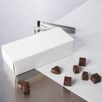8 7/8 inch x 3 3/4 inch x 2 3/8 inch White 1-Piece 2 lb. Candy Box   - 250/Case