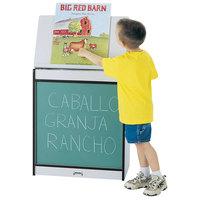 Rainbow Accents 0542JCWW180 24 1/2 inch x 15 inch x 30 inch Black TRUEdge Freckled-Gray Big Book Easel with Chalkboard