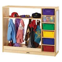 Jonti-Craft Baltic Birch 0909JC 48 inch x 15 inch x 41 1/2 inch Wood Dress Up Storage Cabinet with Colored Trays
