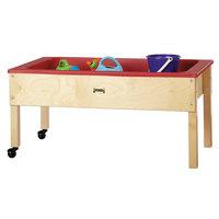 Jonti-Craft Baltic Birch 0286JC 42 inch x 23 inch x 20 inch Toddler-Height Mobile Wood Sensory Table