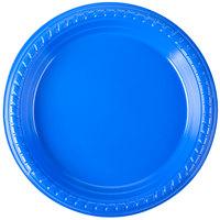 Dart Solo PS75B-0099 7 inch Blue Plastic Plate - 500 / Case