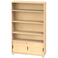 Jonti-Craft TrueModern 1725JC 36 inch x 12 inch x 60 inch Natural Four-Shelf Bookcase with Storage