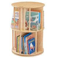Jonti-Craft Baltic Birch 3558JC Book-Go-Round 22 inch x 22 inch x 32 inch Revolving Wood Bookshelf
