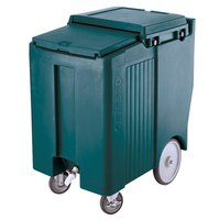 Cambro ICS175TB192 Granite Green Sliding Lid Portable Ice Bin - 175 lb. Capacity Tall Model