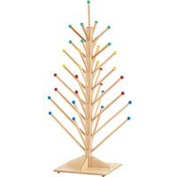 Jonti-Craft Baltic Birch 0488JC 25 1/2 inch x 25 1/2 inch x 48 inch 33-Hook Hardwood Puppet Tree