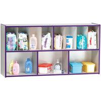Rainbow Accents 5141JC004 48 inch x 12 inch x 25 inch Purple TRUEdge Freckled-Gray Diaper Changing Supplies Organizer