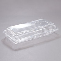 Dart C90UT1 StayLock 13 3/8 inch x 6 3/4 inch x 2 5/8 inch Clear Hinged Plastic 13 inch Strudel Container - 200/Case
