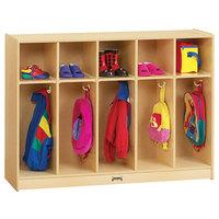 Jonti-Craft Baltic Birch 2684JC 48 inch x 15 inch x 35 inch Toddler-Height 5-Section Coat Locker