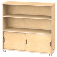 Jonti-Craft TrueModern 1723JC 36 inch x 12 inch x 36 inch Natural Two-Shelf Bookcase with Storage