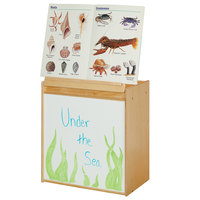 Young Time 7094YT 24 1/2 inch x 15 inch x 27 1/2 inch Natural Big Book Easel with Write-n-Wipe Board