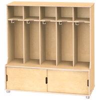Jonti-Craft TrueModern 1720JC 48 1/2 inch x 17 1/2 inch x 50 inch 5-Section Locker with Storage