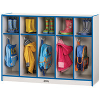 Rainbow Accents 2684JCWW003 48 inch x 15 inch x 35 inch Toddler-Height 5-Section Blue TRUEdge Freckled-Gray Laminate Coat Locker