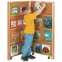Jonti-Craft Baltic Birch 2671JC 48 inch x 2 1/2 inch x 48 inch 2-Section Mobile Library Bookcase