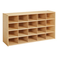 Young Time 7040YT 48 inch x 15 inch x 26 1/2 inch Natural 20-Cubbie Storage Unit