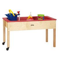 Jonti-Craft Baltic Birch 0285JC 42 inch x 23 inch x 24 1/2 inch Mobile Wood Sensory Table