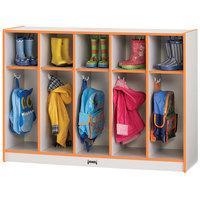 Rainbow Accents 2684JCWW114 48 inch x 15 inch x 35 inch Toddler-Height 5-Section Orange TRUEdge Freckled-Gray Laminate Coat Locker