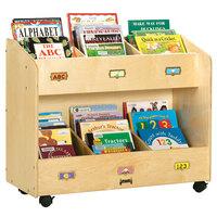 Jonti-Craft Baltic Birch 5368JC 36 inch x 16 inch x 29 1/2 inch 6-Section Mobile Wood Book Organizer / Display
