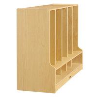 Jonti-Craft Baltic Birch 6684JC 48 inch x 17 1/2 inch x 35 inch Toddler-Height 5-Section Coat Locker with Step