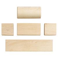Jonti-Craft Baltic Birch 0276JC Toddler's Abel 154-Piece Hardwood Block Set