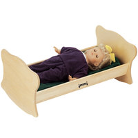 Jonti-Craft Baltic Birch 0214JC 27 inch x 14 1/2 inch x 12 inch Wood Doll Cradle
