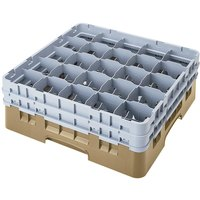 Cambro 25S900184 Camrack 9 3/8 inch High Customizable Beige 25 Compartment Glass Rack
