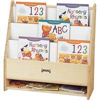 Jonti-Craft Baltic Birch 0071JC 24 inch x 9 inch x 25 inch Toddler Wood Pick-a-Book Stand with Write-n-Wipe Back