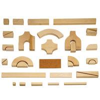 Jonti-Craft Baltic Birch 0260JC Children's Small Classroom 340-Piece Hardwood Unit Block Set