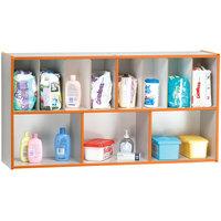 Rainbow Accents 5141JC114 48 inch x 12 inch x 25 inch Orange TRUEdge Freckled-Gray Diaper Changing Supplies Organizer